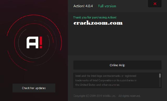 Mirillis Action 4.6.0 Crack + Serial Keygen Full Torrent Download {2020}