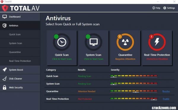 Total AV Antivirus Crack With Key Free Download 2020 {Lifetime}