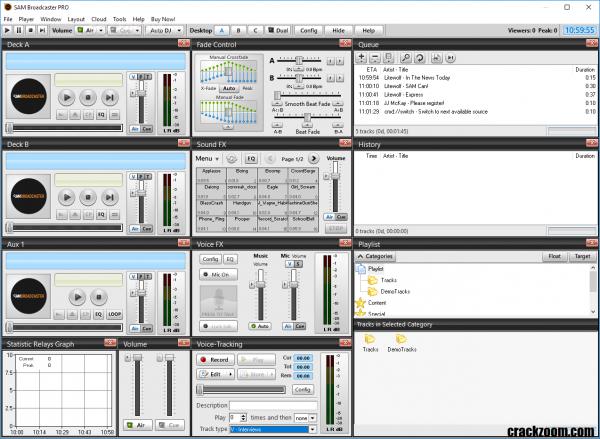 SAM Broadcaster PRO 2020.3 Crack + Keygen Free Download 2020 {Latest}