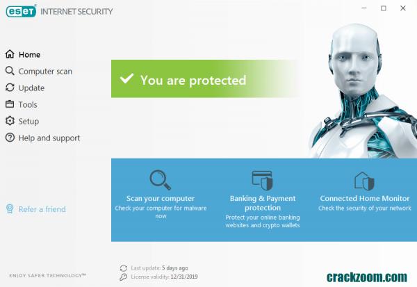 ESET Internet Security 2020 Crack + License Key Free Download