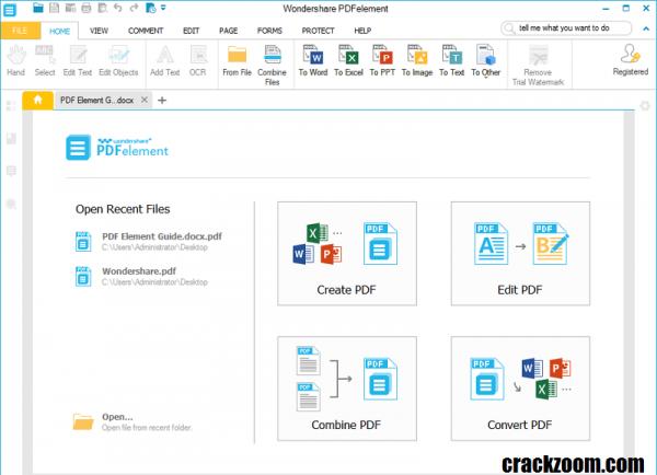 Wondershare PDFelement 7.5.3 Crack {Torrent} + Serial Key Download 2020