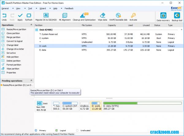 EaseUS Partition Master 15.8 Crack {Latest} Torrent Full Download